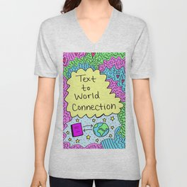 Text to World Connection Unisex V-Neck