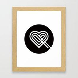 Altiro Studio Ampersand Heart Framed Art Print
