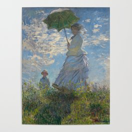 The Walk, Woman with a Parasol by Claude Monet Poster