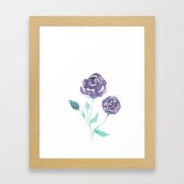 Purple Rose Bush Framed Art Print