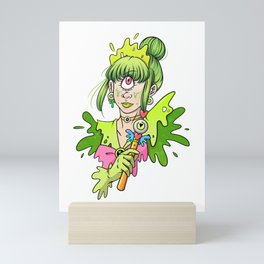 Magical Cyclops Girl Mini Art Print