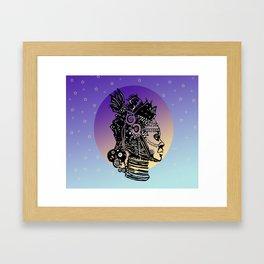 AFRICAN MOON Framed Art Print
