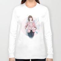 peach Long Sleeve T-shirts featuring Peach by missjosh