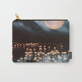 Fantasy lake with moonlight Carry-All Pouch