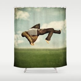 between earth and heaven Shower Curtain