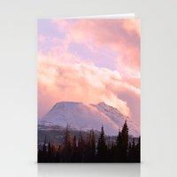 ashton irwin Stationery Cards featuring Rose Quartz Turbulence by Alaskan Momma Bear