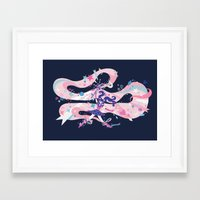 magical girl Framed Art Prints featuring magical girl by Kyungmi Park
