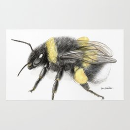White-tailed bumblebee, poster #3 Rug