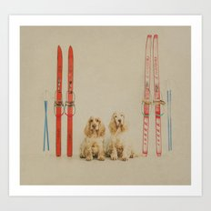 Skiing is believing Art Print