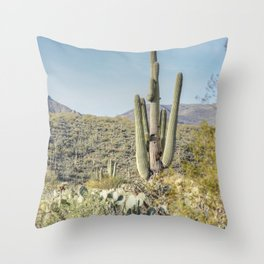 Trees and Cacti  Throw Pillow