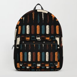 Vintage Vaccines - Large on Black Backpack