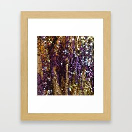 PURPLE AND GOLD Framed Art Print