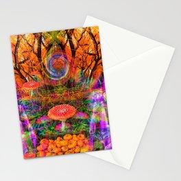 Hypnotic Autumn Magic Stationery Cards