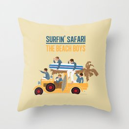 Surfin Safari Throw Pillow