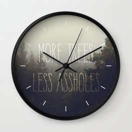 More trees please Wall Clock