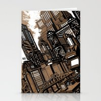 cityscape Stationery Cards featuring Cityscape by David Miley