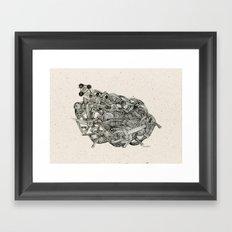 - dark world - Framed Art Print
