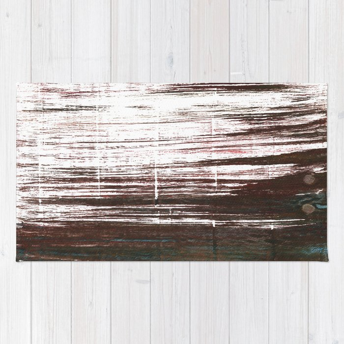 Bistre abstract watercolor Rug