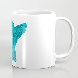 Vintage Flying Illuminati Jukebox Blue Coffee Mug