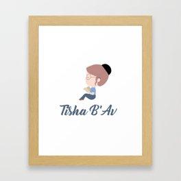 Tisha B'av Torah - The Book of Lamentations Framed Art Print