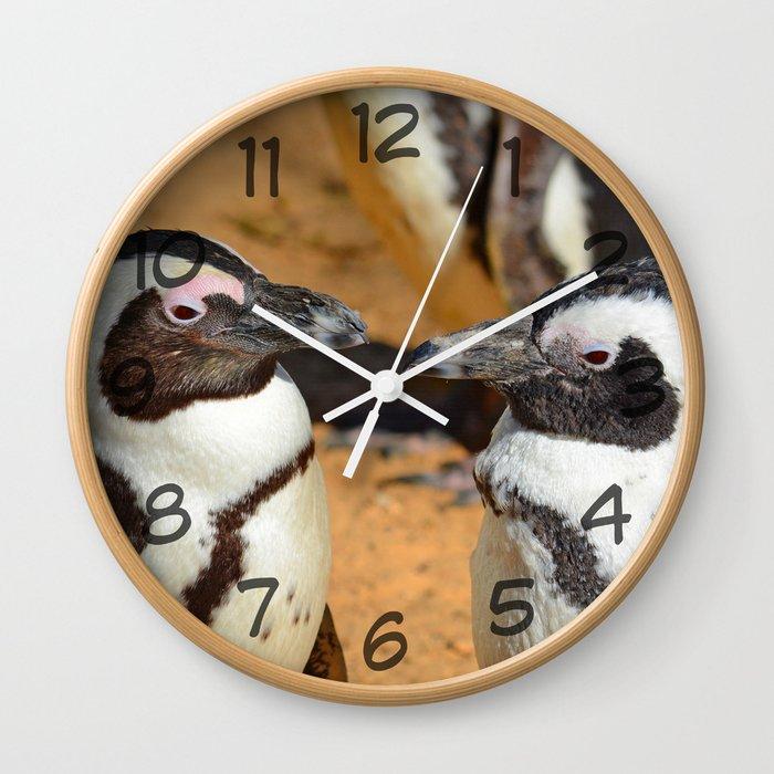 African penguins Wall Clock