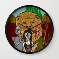 oz Wall Clocks featuring Oz by nu boniglio