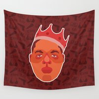notorious Wall Tapestries featuring Notorious B.I.G. by Kuki
