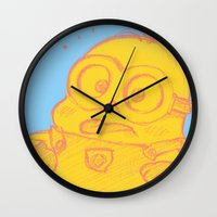 minion Wall Clocks featuring minion by cos-tam