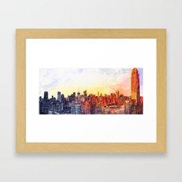 Sunshine in NYC Framed Art Print