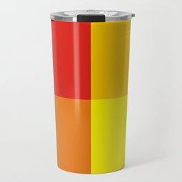 Red orange quarters Travel Mug
