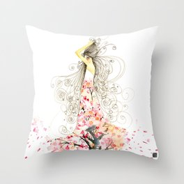 Tree Dress Peekaboo Throw Pillow