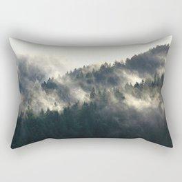 Foggy Hills Rectangular Pillow
