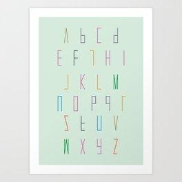 Alphabet for children Art Print