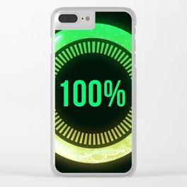 Light green loading futuristic circle Clear iPhone Case