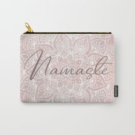 Pink Mandala, Namaste Greeting, Yoga Carry-All Pouch