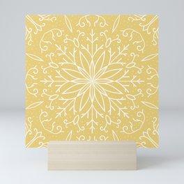 Single Snowflake - Yellow Mini Art Print