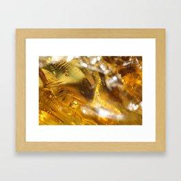 Glass Macro Framed Art Print