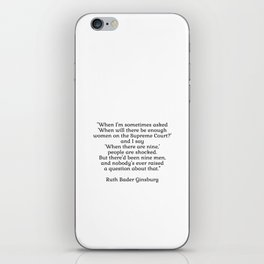 When there are nine - Ruth Bader Ginsburg iPhone Skin