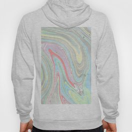 Pink coral mint green aqua watercolor abstract marble pattern Hoody