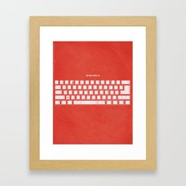 All you need is Framed Art Print