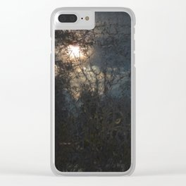 New Year's Moonlit River Clear iPhone Case