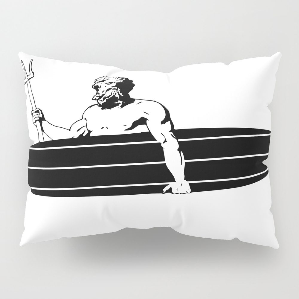 Surf God Pillow Sham by Saltysurfsalad PSH8309865
