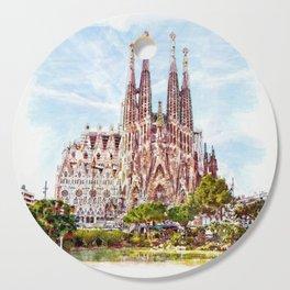 La Sagrada Familia watercolor Cutting Board