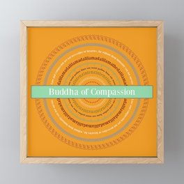 Buddha of Compassion Framed Mini Art Print