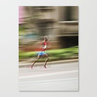 runner Canvas Prints featuring Runner  by Gabriel  Espinosa