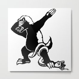 Dabbing Honey badger Metal Print