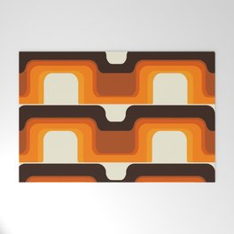 Mid-Century Modern Meets 1970s Orange Welcome Mat