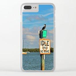 Matanzas Pass Marker 31 Clear iPhone Case