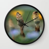 guardians Wall Clocks featuring The Guardians by Robin Curtiss