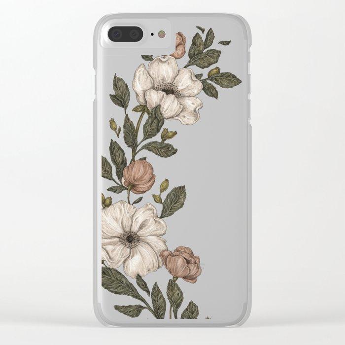 Floral Laurel Clear iPhone Case